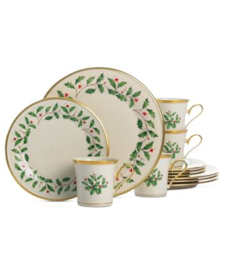 Lenox. Holiday 12 Piece Dinnerware Set. 48 reviews. main image; main image ...  sc 1 st  Macyu0027s & Lenox Holiday 12 Piece Dinnerware Set - Fine China - Macyu0027s