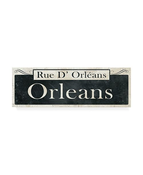 "Trademark Global Wild Apple Portfolio French Quarter Sign II Canvas Art - 27"" x 33.5"""