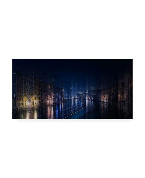 "Trademark Global Michele Vignola A Night in Venice Canvas Art - 36.5"" x 48"""