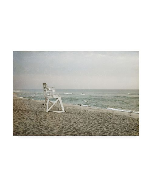 "Trademark Global Brooke T. Ryan Lifeguard Chair at Dawn Canvas Art - 27"" x 33.5"""