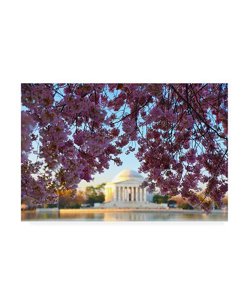 "Trademark Global Mitch Catanzaro Jefferson Memorial Coverage Canvas Art - 15.5"" x 21"""
