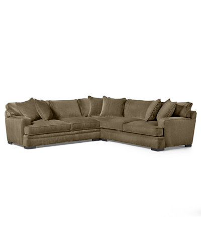 CLOSEOUT! Teddy Fabric 3-Piece Sectional Sofa, Created for Macy's