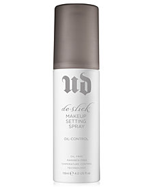 Urban Decay De-Slick Oil-Control Makeup Setting Spray, 4 oz
