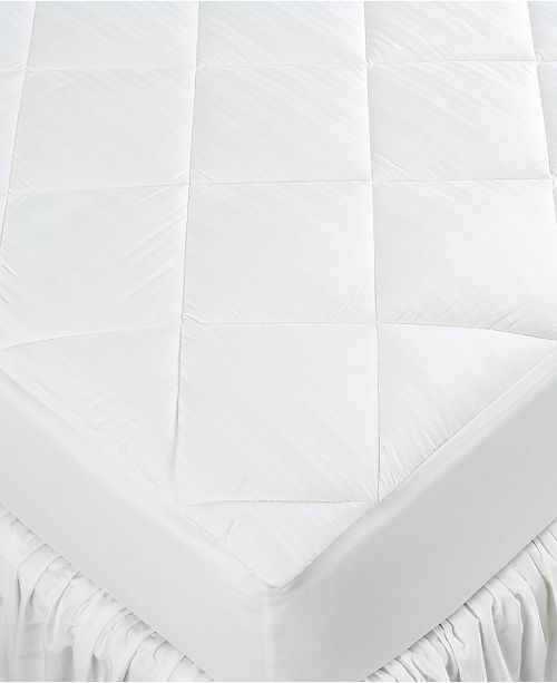 Lauren Ralph Lauren CLOSEOUT! Twin Mattress Pad, Down Alternative Cluster Puff Fill, 300 Thread Count 100% Cotton Cover, Bedglove Stretch Skirt