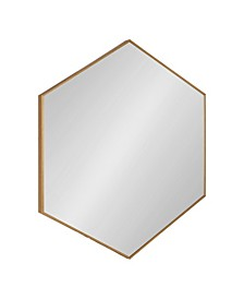 "Rhodes 6-Sided Hexagon Wall Mirror - 30.75"" x 34.75"""