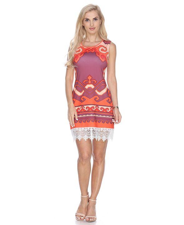 White Mark Women's Fleur Dress