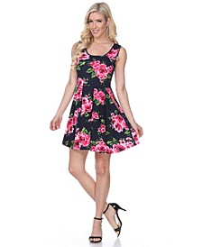 Women's Floral Crystal Dress