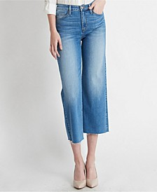 High Rise Clean Cut Crop Wide Leg Jeans