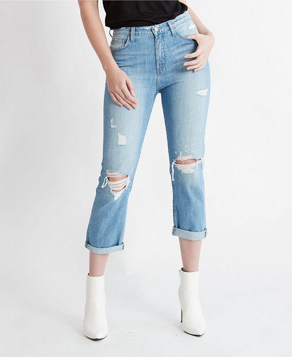 FLYING MONKEY Double Cuffed Boyfriend Jeans