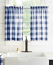 Blue Plaid Kitchen Curtains Macy S