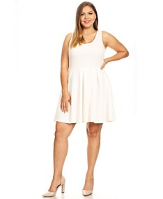 White Plus Size Dresses - Macy\'s
