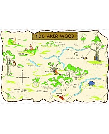 York Wallcoverings Winnie The Pooh - 100 Aker Wood Peel and Stick Map