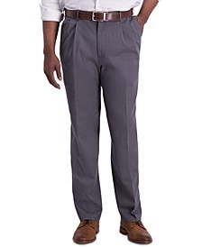 Men's Iron Free Premium Khaki Classic-Fit Pleated Pant