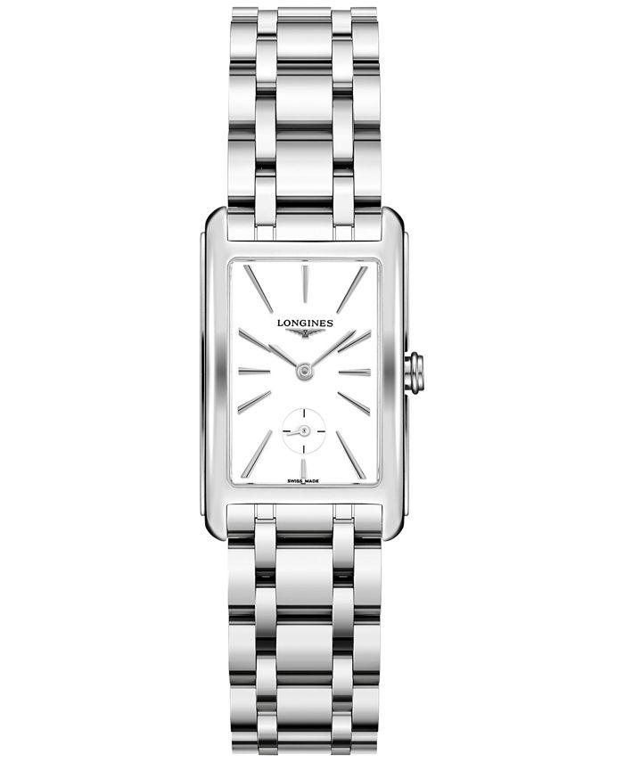 Longines - Women's Swiss DolceVita Stainless Steel Bracelet Watch 23.3x37mm