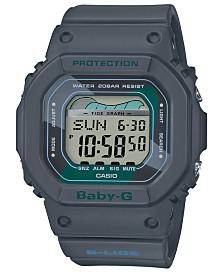 Baby-G Women's Digital Gray Resin Strap Watch 40mm