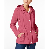 Deals on Charter Club Water-Resistant Hooded Anorak Jacket