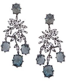 Jenny Packham Hematite-Tone Crystal & Stone Chandelier Earrings