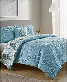 Luanna 4-Pc. Full/Queen Reversible Comforter Set