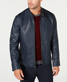 Tasso Elba Men's Pietro Leather Jacket, Created for Macy's