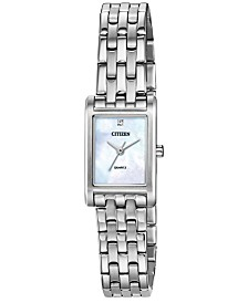 Citizen Women's Quartz Stainless Steel Bracelet Watch 18x22mm