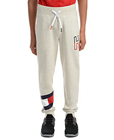 Tommy Hilfiger Big Boys Kent Logo-Print Heather Fleece Sweatpants