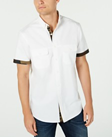 Club Room Men's Twill Short Sleeve Shirt, Created for Macy's