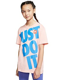 Nike Big Girls Cotton Just Do It Boyfriend T-Shirt