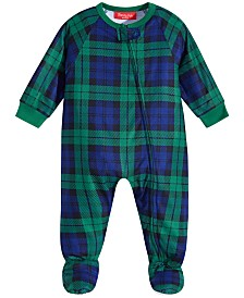Matching Family Pajamas Baby Black Watch Plaid Footed Pajamas, Created For Macy's