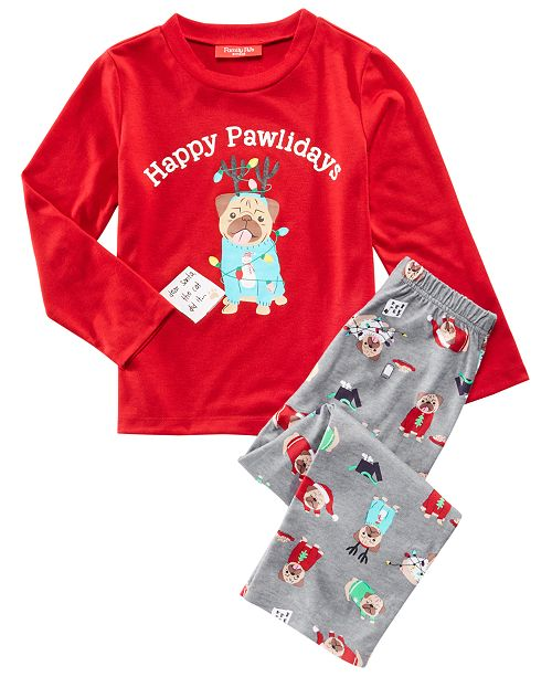 Family Pajamas Matching Kids Happy Pawlidays Pajama Set, Created for Macy's