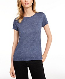 Tie-Back Solid T-Shirt, Created for Macy's