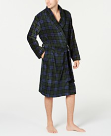 Club Room Men's Navy Plaid Robe, Created for Macy's