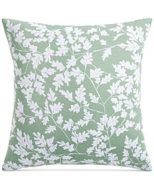 "Oak Leaf Cotton 300-Thread Count 26"" x 26"" European Sham, Created for Macy's"