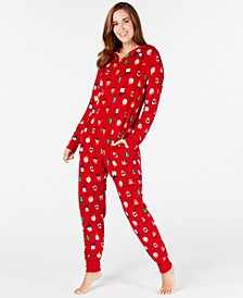 Matching Santa and Friends Hooded Pajamas, Created for Macy's