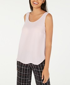 Alfani Sleeveless Scoop-Neck Shell, Created for Macy's