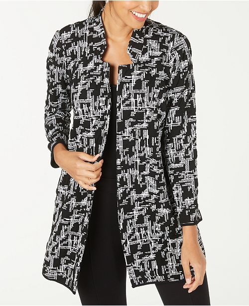 Alfani Printed Long Coat, Created for Macy's