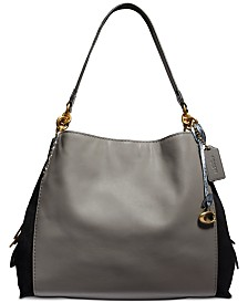 COACH Colorblock Exotic Dalton 31 Leather Shoulder Bag