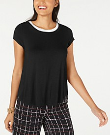 Sweater-Trim T-Shirt, Created for Macy's
