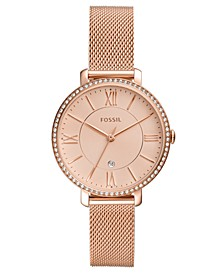 Women's Jacqueline Rose Gold-Tone Stainless Steel Mesh Bracelet Watch 36mm