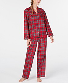 Matching Women's Brinkley Plaid Flannel Pajama Set, Created For Macy's