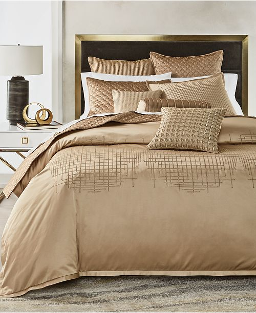 Hotel Collection Deco Embroidery Full/Queen Duvet, Created for Macy's