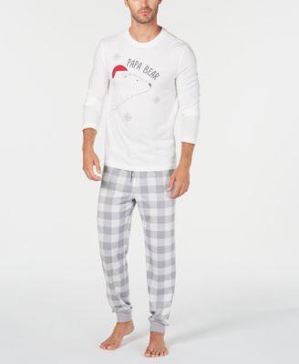 Matching Men's Papa Bear Pajama Set, Created For Macy's