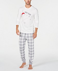 Matching Men's Papa Bear Pajama Set, Created For Macy's