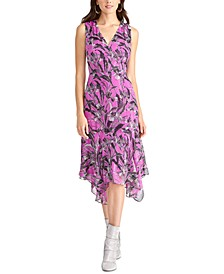 Handkerchief-Hem Printed Dress