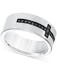 Men's Diamond Band (1/4 ct. t.w.) in Stainless Steel