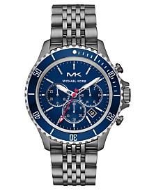 Michael Kors Men's Chronograph Bayville Gunmetal Stainless Steel Bracelet Watch 44mm