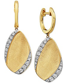 EFFY® Diamond Leaf Drop Earrings (3/8 ct. t.w.) in 14k Gold