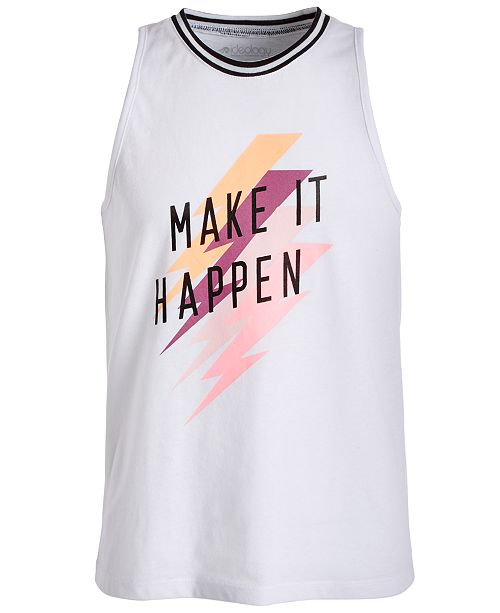 Ideology Big Girls Graphic-Print Muscle Tank Top, Created for Macy's