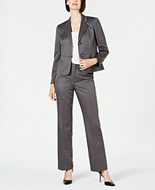 Pinstripe Two-Button Pant Suit