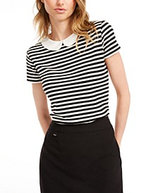 Striped Peter Pan-Collar Top, Created for Macy's
