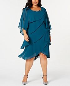 Plus Size Tiered Dress & Jacket